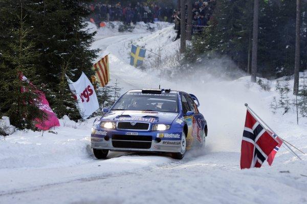 2006 FIA World Rally Champs. Round two Swedish Rally.2nd-5th February 2006.Mattias Ekstrom, Skoda, action.World Copyright: McKlein/LAT