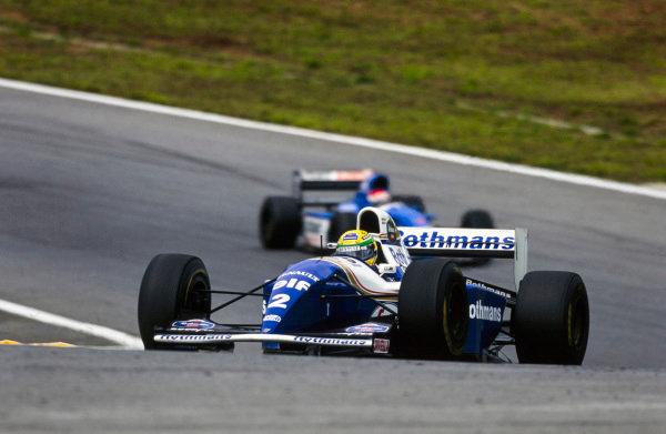 Ayrton Senna, Williams FW16B Renault.