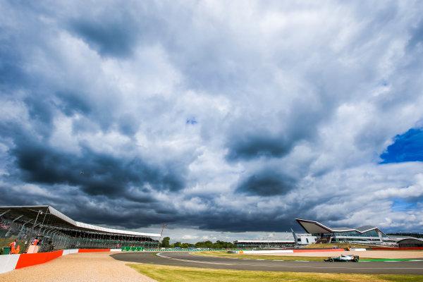 Silverstone, Northamptonshire, UK.  Friday 14 July 2017. Valtteri Bottas, Mercedes F1 W08 EQ Power+. World Copyright: Charles Coates/LAT Images  ref: Digital Image AN7T4869