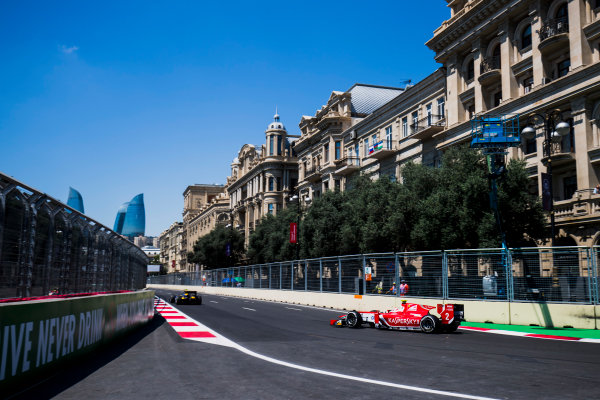 2017 FIA Formula 2 Round 4. Baku City Circuit, Baku, Azerbaijan. Friday 23 June 2017. Antonio Fuoco (ITA, PREMA Racing)  Photo: Zak Mauger/FIA Formula 2. ref: Digital Image _54I9542