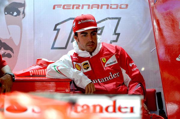 Fernando Alonso (ESP) Ferrari. Formula One World Championship, Rd6, Monaco Grand Prix, Practice, Monte-Carlo, Monaco, Thursday 22 May 2014.