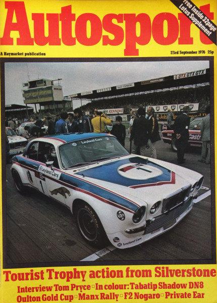 Cover of Autosport magazine, 23rd September 1976