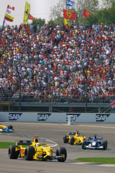 2002 American Grand Prix.Indianapolis, Indiana, USA. 27-29 September 2002.Giancarlo Fisichella (Jordan EJ12 Honda) 7th position.World Copyright - LAT Photographicref: Digital File Only