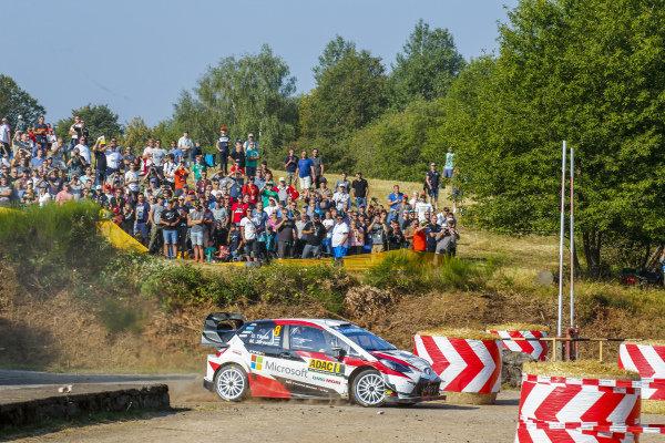 Ott Tanak tackles the military area on Rallye Deutschland