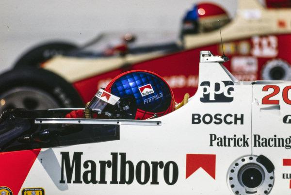 Emerson Fittipaldi, Patrick Racing, March 86C Cosworth.