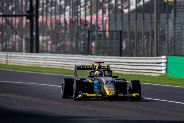 AUTODROMO NAZIONALE MONZA, ITALY - SEPTEMBER 08: Ye Yifei (CHI, Hitech Grand Prix) during the Monza at Autodromo Nazionale Monza on September 08, 2019 in Autodromo Nazionale Monza, Italy. (Photo by Joe Portlock / LAT Images / FIA F3 Championship)