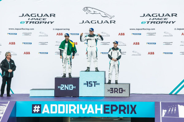 Simon Evans (NZL), Team Asia New Zealand celebrates victory in the PRO class with 2nd position Sérgio Jimenez (BRA), Jaguar Brazil Racing and 3rd position Bryan Sellers (USA), Rahal Letterman Lanigan Racing