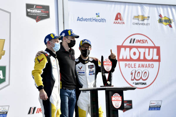#4 Corvette Racing Corvette C8.R, GTLM: Nick Tandy, Tommy Milner, Alexander Sims, victory lane