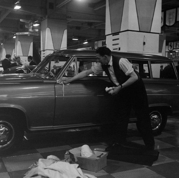 Polishing a Borgward.