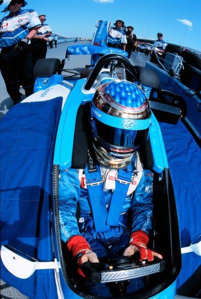 1999 CART MIAMI GP, 21-3-99, Homestead, FL, USAGreg Moore prepares for his run to victory.-1999, Michael L. Levitt, USA 248-399-3371LAT PHOTOGRAPHIC