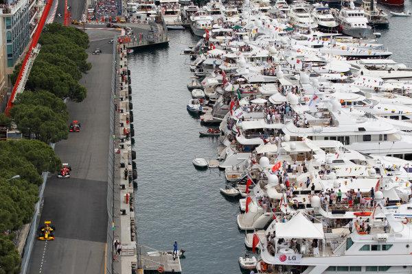 Monte Carlo, Monaco16th May 2010Robert Kubica, Renault R30, 3rd position, leads Felipe Massa, Ferrari F10, 4th position, and Lewis Hamilton, McLaren MP4-25 Mercedes, 5th position. Action. World Copyright: Steven Tee/LAT Photographicref: Digital Image _A8C1458