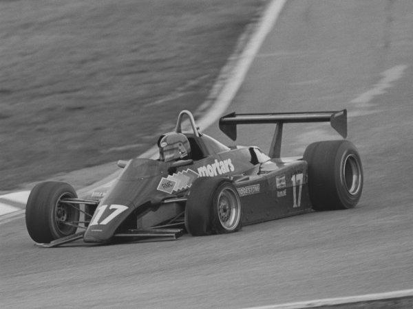 Kenny Acheson (GBR), Maurer MM83-BMW, finished 10th.European Formula Two Championship, Rd3, Jim Clark Rennen, Hockenheim, Germany, 10 April 1983.