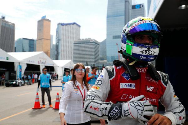2017/2018 FIA Formula E Championship. Round 1 - Hong Kong, China. Saturday 02 December 2017. Lucas Di Grassi (BRA), Audi Sport ABT Schaeffler, Audi e-tron FE04. Photo: Sam Bloxham/LAT/Formula E ref: Digital Image _J6I4371