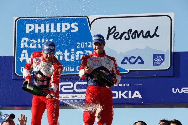 Round 05, Rally Argentina26th - 29th April 2012Sebastien Loeb, Daniel Elena, Citroen, podiumWorldwide Copyright: McKlein/LAT