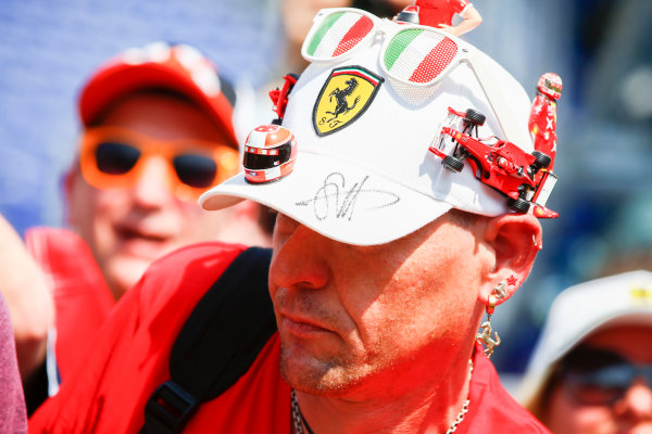 Monte Carlo, Monaco. Friday 26 May 2017. A Michael Schumacher fan. World Copyright: Andy Hone/LAT Images ref: Digital Image _ONZ0152