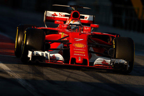 Circuit de Barcelona Catalunya, Barcelona, Spain. Thursday 02 March 2017. Kimi Raikkonen, Ferrari SF70H. World Copyright: Steven Tee/LAT Images ref: Digital Image _R3I7368