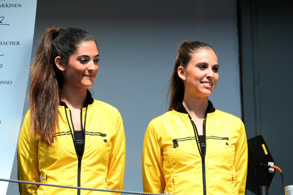 Girls on the podium.GP2 Series, Rd2, Barcelona, Spain, 9-11 May 2014.