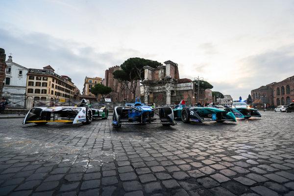 2017/2018 FIA Formula E Championship. Street Demonstration - Rome, Italy. Thursday 19 October 2017. Photo: Malcom Griffiths/LAT/Formula E ref: Digital Image IMG_8945