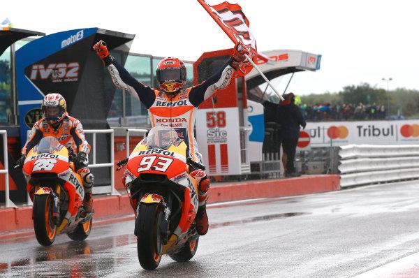 2017 MotoGP Championship - Round 13 Misano, Italy. Sunday 10 September 2017 Race winner Marc Marquez, Repsol Honda Team World Copyright: Gold and Goose / LAT Images ref: Digital Image 7931