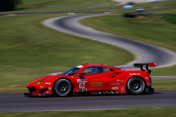 IMSA WeatherTech SportsCar Championship Michelin GT Challenge at VIR Virginia International Raceway, Alton, VA USA Friday 25 August 2017 62, Ferrari, Ferrari 488 GTE, GTLM, Giancarlo Fisichella, Toni Vilander World Copyright: Jake Galstad LAT Images