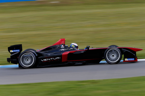 FIA Formula E Test Day, Donington Park, UK.  9th - 10th July 2014.  Stephane Sarrazin, Venturi Grand Prix. Photo: Glenn Dunbar/FIA Formula E ref: Digital Image _89P3582