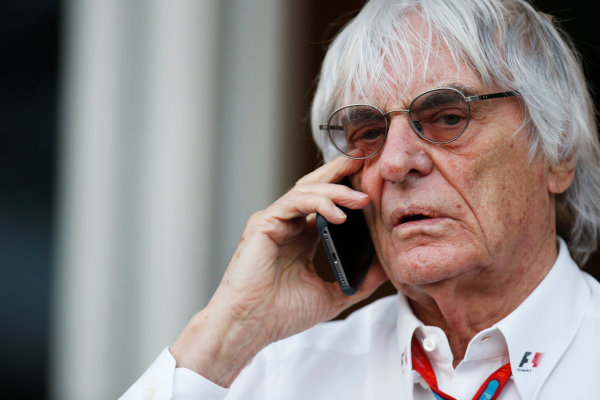 Bahrain International Circuit, Sakhir, Bahrain. Saturday 02 April 2016. Bernie Ecclestone, CEO and President of FOM. World Copyright: Sam Bloxham/LAT Photographic ref: Digital Image _L4R8687