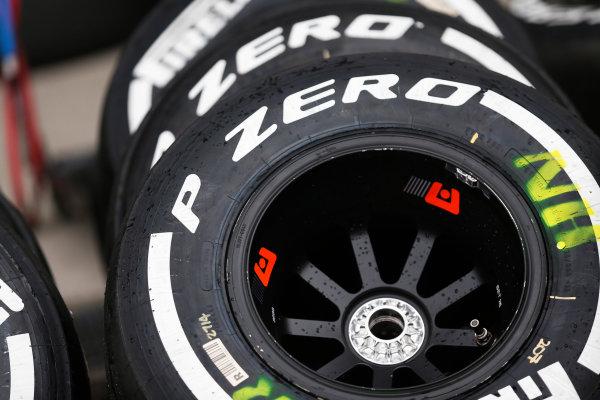 Suzuka Circuit, Suzuka, Japan.  Saturday 26 September 2015. Tyres ready for use. World Copyright: Alastair Staley/LAT Photographic ref: Digital Image _R6T1456