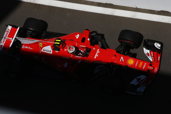 Sochi Autodrom, Sochi, Russia. Friday 28 April 2017. Kimi Raikkonen, Ferrari SF70H.  World Copyright: LAT Images ref: Digital Image DJ5R3040