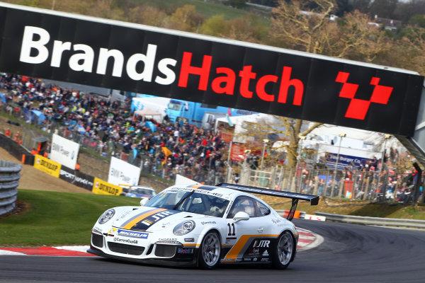 2017 Porsche Carrera Cup GB Brands Hatch, 1st-2nd April 2017 Tio Ellinas  World Copyright. JEP/LAT Images