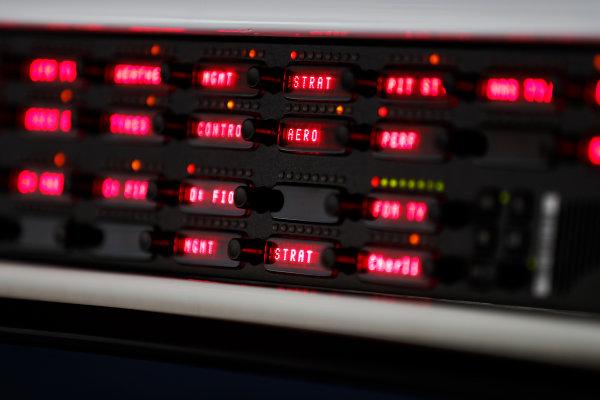 Shanghai International Circuit, Shanghai, China.  Thursday 06 April 2017. Pit perch control panel technical detail. World Copyright: Glenn Dunbar/LAT Images ref: Digital Image _X4I4827