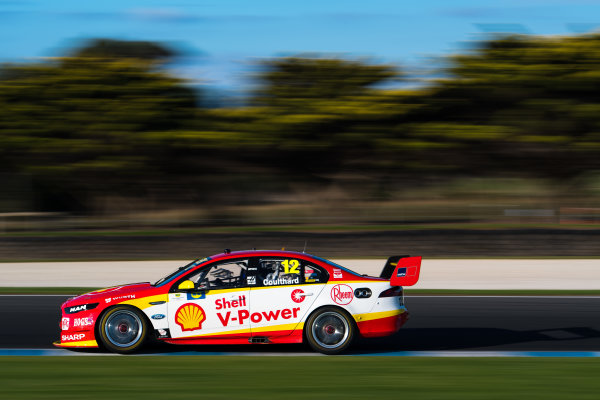 2017 Supercars Championship Round 3.  Phillip Island 500, Phillip Island, Victoria, Australia. Friday 21st April to Sunday 23rd April 2017. Fabian Coulthard drives the #12 Shell V-Power Racing Team Ford Falcon FGX. World Copyright: Daniel Kalisz/LAT Images Ref: Digital Image 220417_VASCR3_DKIMG_2649.JPG
