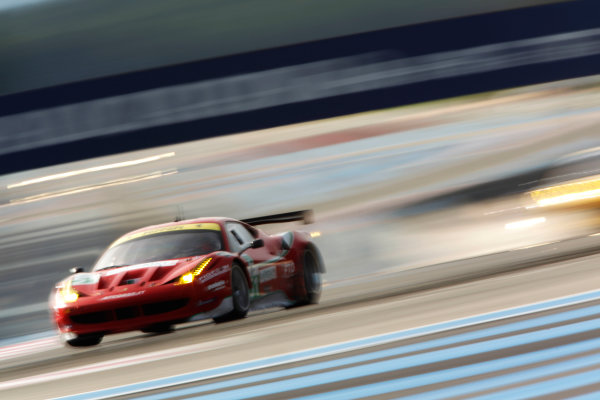 Circuit Paul Ricard, France. 1st - 3rd April 2011.Six Hours Of Castellet.Giancarlo Fisichella / Gianmaria Bruni, AF Corse, Ferrari F458 Italia. Action.     World Copyright: Drew Gibson/LAT Photographic.ref: Digital Image DG5D2939