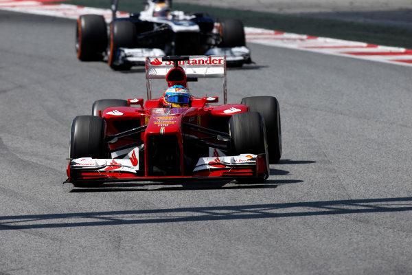 Circuit de Catalunya, Barcelona, Spain 12th May 2013 Fernando Alonso, Ferrari F138.  World Copyright: Glenn Dunbar/LAT Photographic ref: Digital Image _89P6124