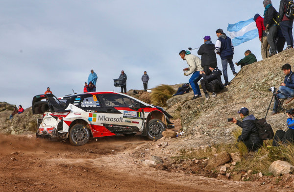 Ott Tanak performs on the El Condor stage of Rally Argentina