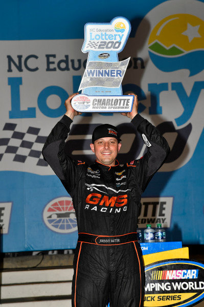 #21: Johnny Sauter, GMS Racing, Chevrolet Silverado ISM Connect wins