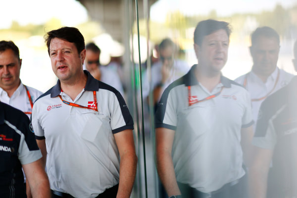 Hungaroring, Budapest, Hungary. Friday 22 July 2016. Dave O'Neill, Team Manager, Haas F1. World Copyright: Andy Hone/LAT Photographic ref: Digital Image _ONY0923