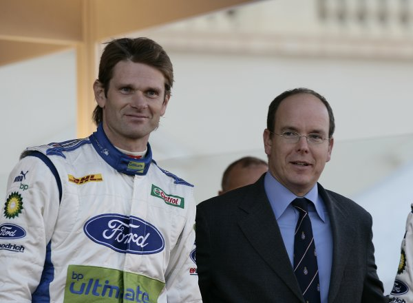 2006 FIA World Rally Champs. Round One, Monte Carlo Rally.19th - 22nd January 2006.Marcus Gronholm, Crown Prince Albert, podium.World Copyright: McKlein/LAT World Copyright: McKlein/LAT