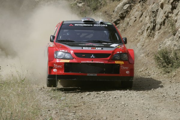 2005 FIA World Rally Champs. Round sixCyprus Rally 12th - 15th May 2005.Harri Rovanpera,Mitsubishi, Action.World Copyright: McKlein/LAT