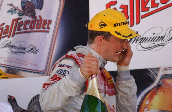 2005 DTM ChampionshipLausitz, Germany. 17th - 18th September 2005Race podium - winner Mattias Ekstrom (Abt Sportsline Audi A4) 1st.World Copyright: Andre Irlmeier / LAT Photographicref: Digital Image Only