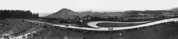 Nurburgring, Germany. 19th July 1931. An electronically stiching together of 4 seperate Glass Plates to create this image. Numbers B6842, B6843, B6844 and B6845. World Copyright: LAT Photographic. Ref:  Autocar Glass Plates B6842, B8643, B6844, B8645.