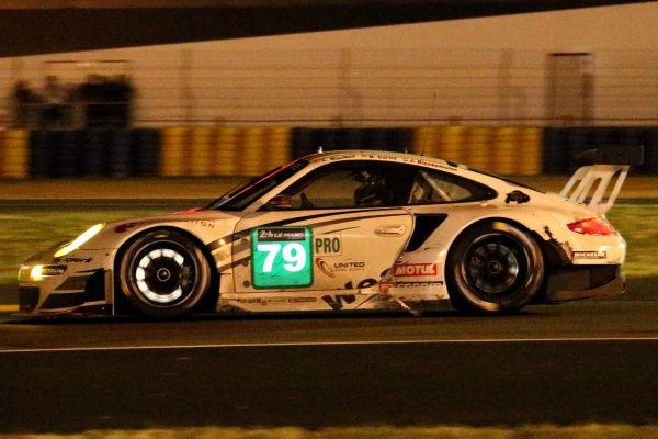 Cooper MacNeil (USA) / Jeroen Bleekemolen (NED) ProSpeed Competition Porsche 911 GT3-RSR . Le Mans 24 Hours, Le Mans, France, 12-14 June 2014.