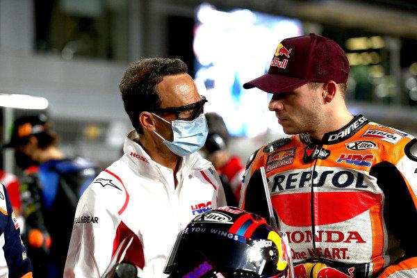 Alberto Puig, Repsol Honda Team Team Principal, Stefan Bradl, Repsol Honda Team.
