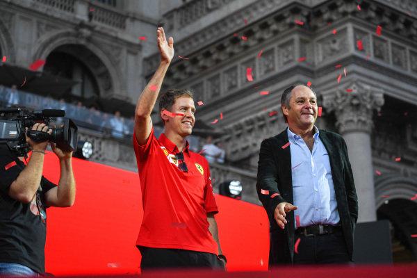 Sebastian Vettel, Ferrari and Gerhard Berger