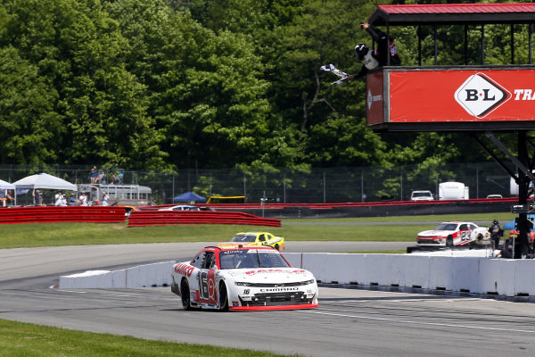 #16: A.J. Allmendinger, Kaulig Racing, Chevrolet Camaro RAMCO Specialties Inc drives under the checkered flag to win