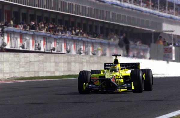 2001 Spanish Grand PrixCatalunya, Barcelona, Spain. 27-29 April 2001.Jarno Trulli (Jordan EJ11Honda) 4th position.World Copyright - Steve Etherington/LAT Photographicref: 18 mb Digital Image