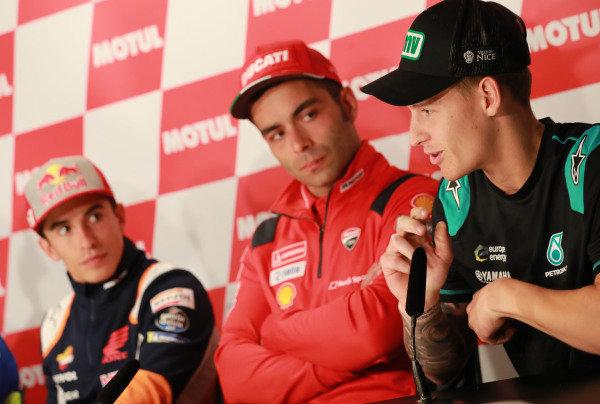 Marc Marquez, Repsol Honda Team, Danilo Petrucci, Ducati Team.
