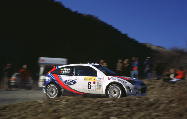 WRC Monte Carlo 2000Carlos Sainz clinched 2nd position in his first rally in the Ford Focus.Photo: McKlein/LAT