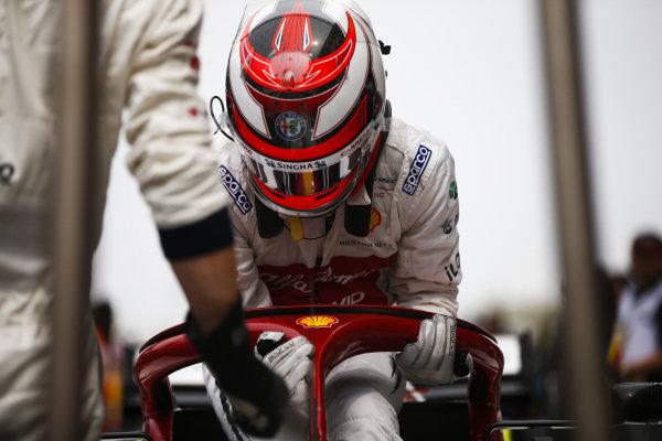 Kimi Raikkonen, Alfa Romeo Racing  on the grid