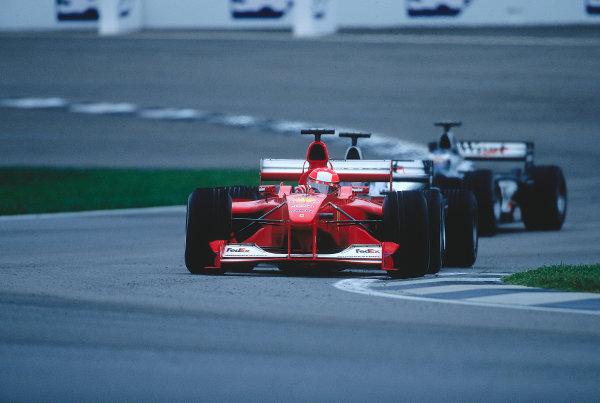 2000 United States Grand Prix.Indianapolis, Indiana, USA. 22-24 September 2000.Michael Schumacher (Ferrari F1-2000) 1st position.Ref-2K USA 55.World Copyright - LAT Photographic