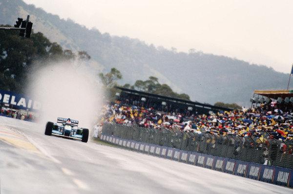 1995 Australian Grand Prix. Adelaide, Australia. 10-12 November 1995. Johnny Herbert (Benetton B195 Renault). Ref-95 AUS 21. World Copyright - LAT Photographic
